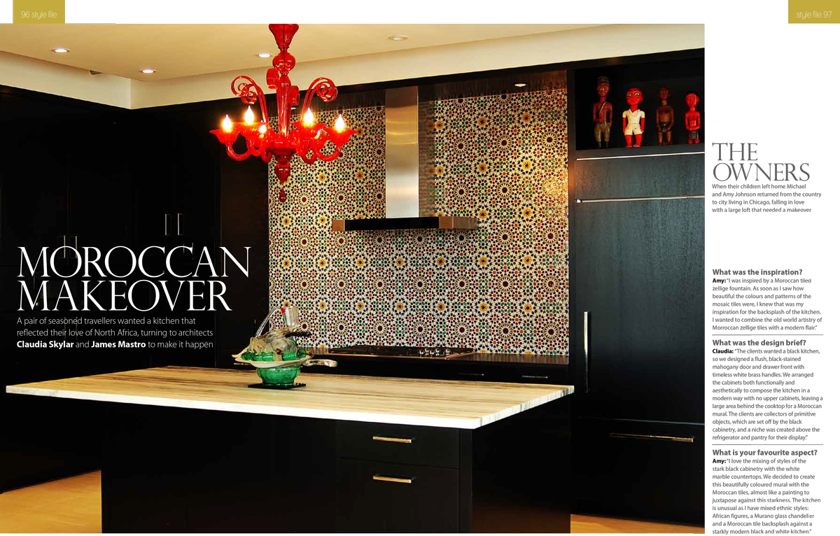 UK Magazine Features Fassi Moroccan Tile Backsplash | The